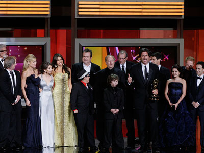 Modern Family | MOST SATISFYING WIN Modern Family for Best Comedy Series ''We are so grateful, we are so thrilled that families are sitting down together to watch…