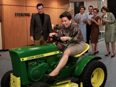 L: LAWN MOWER In season 3, the series demonstrated the formula for eliminating an annoying new boss: Drunk secretary + John Deere = severed foot.…