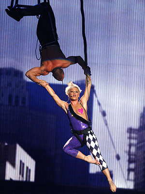 BEST Pink's acrobatic performance of ''Sober''