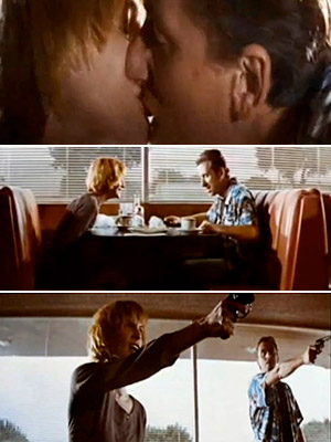 Pulp Fiction (Movie - 1994) | PULP FICTION A simple breakfast conversation shared by Pumpkin and Honey Bunny, evolves into a great scheme to rob the diner they're in. The two…
