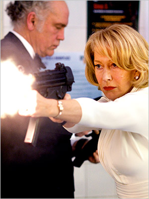 "Starring Bruce Willis, Morgan Freeman, Helen Mirren ? Directed by Robert Schwentke In RED (which stands for ""Retired and Extremely Dangerous""), Morgan Freeman, Helen Mirren,…"