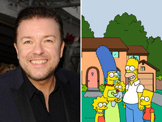 Ricky Gervais, The Simpsons