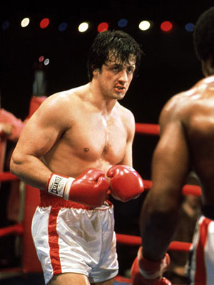Rocky, Sylvester Stallone | Sylvester Stallone ( Rocky , 1976) Though Stallone later became a pile of freakish muscles, his Rocky 1.0 was a heavy-footed brawler easily hit and…