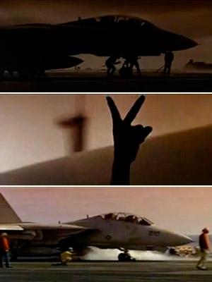 Top Gun, Anthony Edwards, ... | TOP GUN Two awesome '80s songs open this movie (the Top Gun anthem and Kenny Loggins' ''Danger Zone''). Plane after plane takes off, and you'll…