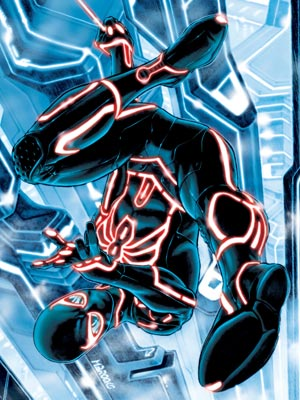 Marvel, Spider-Man | Disney gave the Marvel team lots of flexibility: ''We didn't have to agonize for eight months over what the depiction of a Tron ified Spider-Man…
