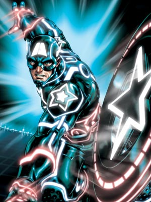 Marvel, Marvel, ... | ''The Captain America cover might be my favorite,'' says Jayatilleke, noting the nifty integration of Captain America's shield with the iconic Tron disc. ''The fact…