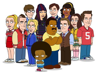 When the Glee cast recorded an episode of Fox's The Cleveland Show last fall, it was waaay before they became megastars. ''They were happy to…