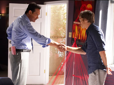 Dexter, Jimmy Smits, ... | Some have found out, but they're never around long enough to get Dexter in trouble for it. The person who stuck around the longest after…