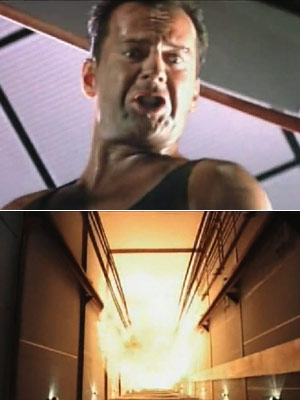 Die Hard, Bruce Willis | 5. Die Hard At one point in the best alternative Christmas movie of all time, wisecracking NYPD cop John McClane throws a makeshift bomb down…
