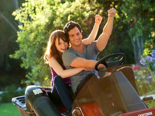 Easy A | YOUTH IN REVOLT Emma Stone and Penn Badgley take a ride in Easy A