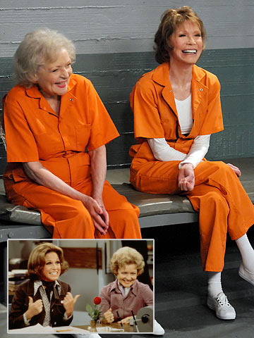 Betty White, Mary Tyler Moore, ... | It's a WJM reunion! Moore reteams with White — her costar on the 1970s smash The Mary Tyler Moore Show (inset) — for the Jan.…
