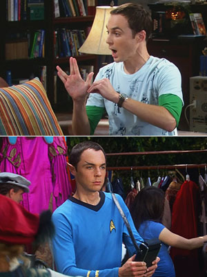 The Big Bang Theory, Jim Parsons | SHELDON'S SPOCK OBSESSION An ultra-refined sense of logic that often butts up against human emotions? Gee, wonder what Dr. Cooper sees in his half-Vulcan hero.…