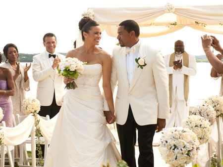 Angela Bassett | The actress walks down the aisle with Laz Alonso in the rom-com Jumping the Broom (out next May), but the real sparks fly as their…