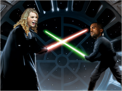 STAR WARS You thought it was gonna be Kanye as Darth Vader? Think again! It's about time T.Swift unleashed her inner villain, people!
