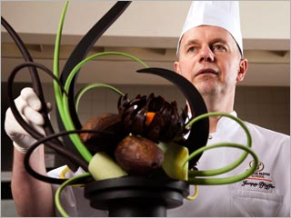 YUMMY! Jacquy Pfeiffer works on a culinary masterpiece in Kings of Pastry