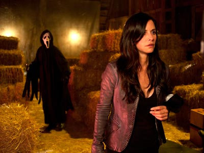 When Scream 4 opens April 15, 10 years have passed. Cox's character, Gale Weathers, is now married to Dewey (Cox's real-life husband, David Arquette). ''I…