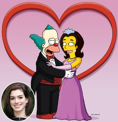 The Simpsons, Anne Hathaway | THE CHARACTERS Jenny (from ''The Good, the Sad and the Drugly,'' 2009) and Princess Penelope (pictured, from ''Once Upon a Time in Springfield,'' 2010) In…
