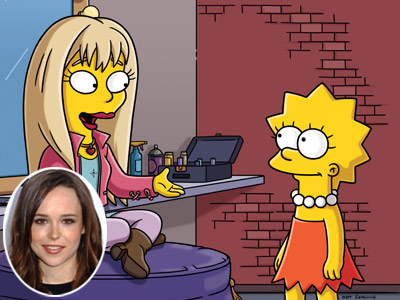 The Simpsons, Ellen Page | THE CHARACTER: Alaska Nebraska (from ''Waverly Hills 9-0-2-1-D'oh,'' 2009) Page plays against her persona of droll indie icon/Cisco salesperson as a Hannah Montana-esque tween-queen —…