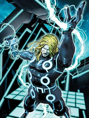 Marvels 4 | When Disney acquired Marvel, there was one clear potential crossover: Tron Legacy . The result is 10 special '' Tron ified'' covers, like this Thor…