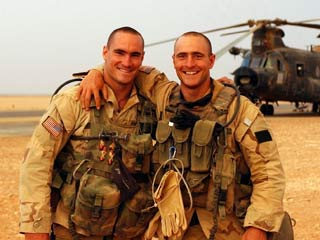 THE FOG OF WAR Pat Tillman and his brother Kevin in happier days before The Tillman Story