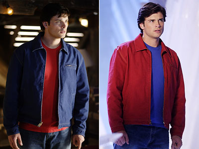 Smallville, Tom Welling | 1. Clark Kent without his signature inverted color combo? Absolute injustice.
