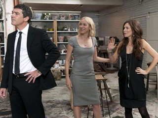 HE'S SO LOVELY Antonio Banderas, Naomi Watts, and Anna Friel in Woody Allen's You Will Meet a Tall Dark Stranger