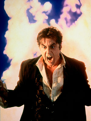 Al Pacino, The Devil's Advocate | AL PACINO, The Devil's Advocate I suppose there are two ways to go when playing Satan: menacingly soft or completely over-the-top hysterical. Guess which way…