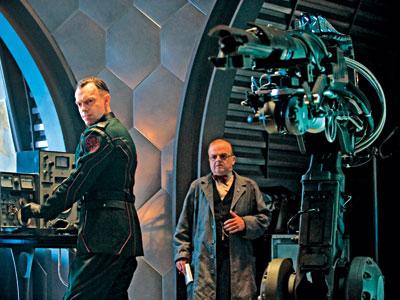 Captain America | Hugo Weaving plays the villainous Johann Schmidt, a.k.a. The Red Skull, alongside Toby Jones as Nazi scientist Armin Zola