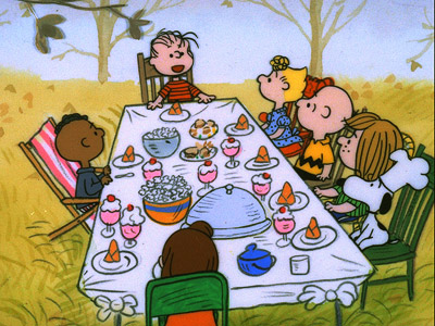 Nov. 18 and 25 (8 p.m.) Good grief! Things go awry when Charlie Brown tries to have Thanksgiving dinner but it?s Marcie and the gang…