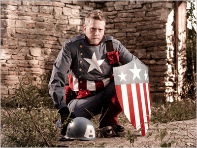 WINNER: WWII Captain America Damon Thrift, Waverly, MN Facebook users: Become an EW fan!