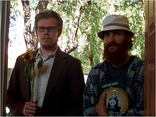 HIPSTER AND HIPPIE, TOGETHER AT LAST Ben York Jones and Andrew Dickler are brothers on a road trip in Douchebag