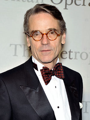 Jeremy Irons | His book description: ''Then I hear the legendary announcer, Claudius Templesmith, as his voice booms all around me.'' Our pick: Jeremy Irons