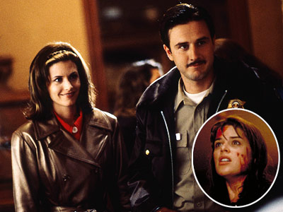 Scream, Courteney Cox, ... | ''I was supposed to die in the first one, and Wes kept me alive. So that was my favorite death scene: me coming back to…