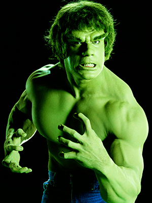 The Incredible Hulk, Lou Ferrigno | LOU FERRIGNO Ross: Why didn't Dr. Banner just shop at a big-and-tall store so his clothes weren't always ripping when he got pissed off? Ferrigno:…