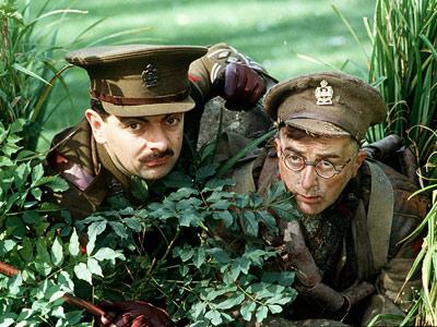 Tony Robinson, Rowan Atkinson   ''I think my all-time favorite, however, has to be Blackadder .'' — LEW