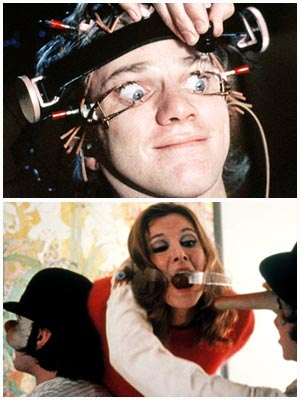 Malcolm McDowell, A Clockwork Orange   It's hard to say what's harder to watch: the gleefully brutal home invasion near the beginning of Stanley Kubrick's sci-fi classic (in which Malcolm McDowell's…