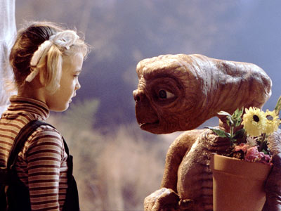 E.T. the Extra-Terrestrial, Drew Barrymore | Despite his sweet friendship with Elliott and pledge to always be ''right here,'' let's not forget, Gertie, E.T. is an alien...from outer space...living in your…