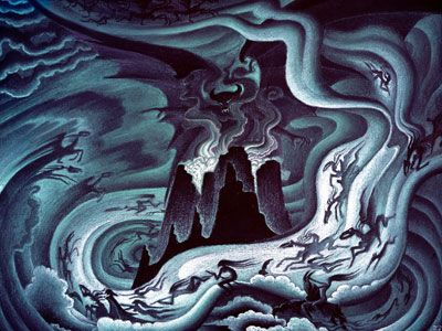 Fantasia | The final chapter ''The Night on Bald Mountain'' features a collection of ghosts, demons, skeletons, and witches, lead by Chernabog, who inflicts a darkness on…