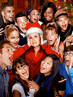 Glee | COACH SYLVESTER, IT'S COLD OUTSIDE Jane Lynch and the cast of Glee
