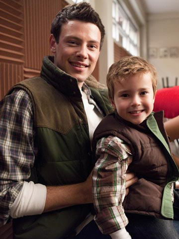 Glee | I really hope mini-Finn plays some mini-drums during the episode. Like Animal on Muppet Babies .