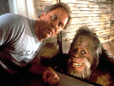 John Lithgow, Harry and the Hendersons | No matter how gentle at heart Harry the sasquatch might actually be, to a painfully sheepish 4-year-old girl, he's still a gigantic, loud and very,…