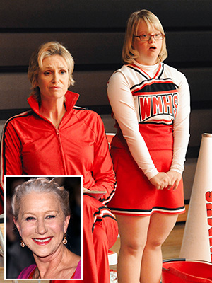 Helen Mirren, Glee | 9. BECKY WITH HELEN MIRREN Becky has always been a favorite recurring character. But fans got a special treat when they were able to listen…