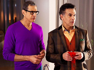 Glee, Jeff Goldblum | 12. JEFF GOLDBLUM AND BRIAN STOKES MITCHELL No singing just yet, but plenty of Streisand references. At long last, we met Rachel's over-the-top dad —…