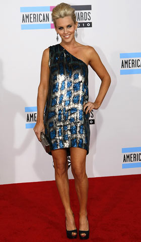 Jenny McCarthy, American Music Awards 2010 | With Halloween long gone, someone should've told Jenny McCarthy that her Fred Flintstone costume — by way of Stella McCartney — is outdated for this…