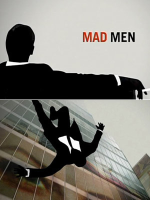 The Mad Men theme song, a short-edit version of hip-hop producer RJD2?s instrumental track ''A Beautiful Mine,'' and the silhouetted businessman who falls during the…