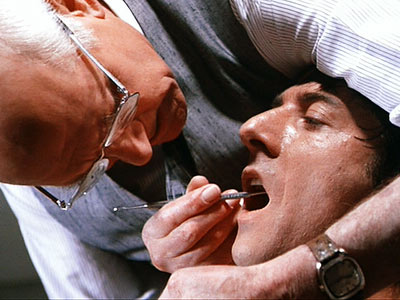 Dustin Hoffman, Marathon Man   Regular dentists are bad enough. But Nazi dentists? Nazi dentists who don't use novocaine?! It's hard to imagine a more perfect form of evil. So…
