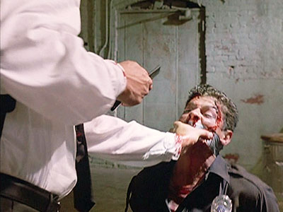 Reservoir Dogs   You were probably too busy shielding your eyes the first time, but if you actually rewatch Quentin Tarantino's ear-slicing scene — you know, the one…