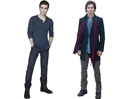 12. Stefan and Damon Salvatore standees from The Vampire Diaries ($22.46, $29.95) Why I want it: First of all, don't call me greedy for asking…