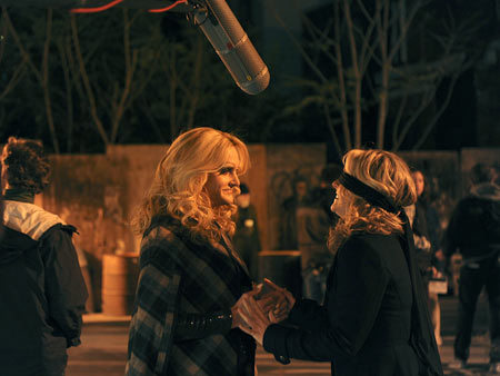30 Rock | Will Forte 's cross-dressing Paul and Jane Krakowski 's Jenna Maroney filming 30 Rock