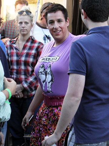 Adam Sandler | Adam Sandler filming Jack and Jill at The Grove in L.A.